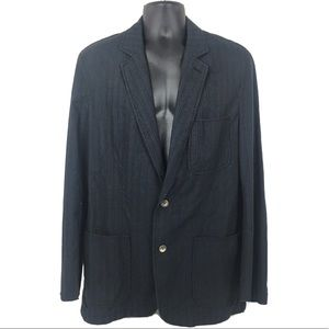 Hugo Boss Blazer 42R Pin Stripe Navy Blue/Grey